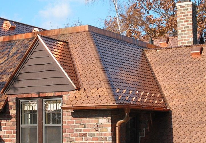 (Chicago IL) Aged Copper Interlock Roofing Shingle. This Metal Roofing  System Is Backed By A Lifetime Limited Warranty. .mwmetalroofing.com |  Pinterest .
