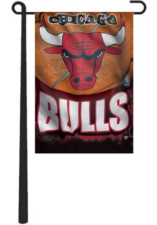Chicago Bulls Team Logo Garden Flag
