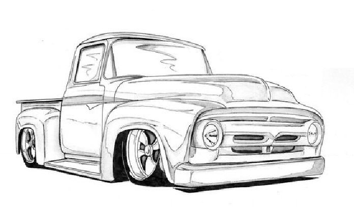 1955 ford truck coloring pages