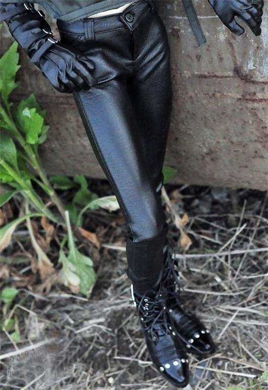 [Wamami] Бесплатная Доставка Новый Оптовой/Розничной Черные Кожаные Штаны Брюки Наряд Для SD17 BJD Куклы Dollfie