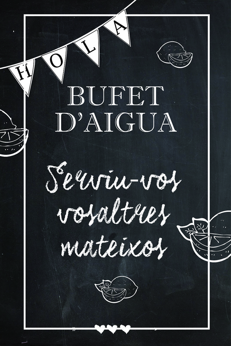 Bufet Aigua - Art en Buff - Bufet de aguas