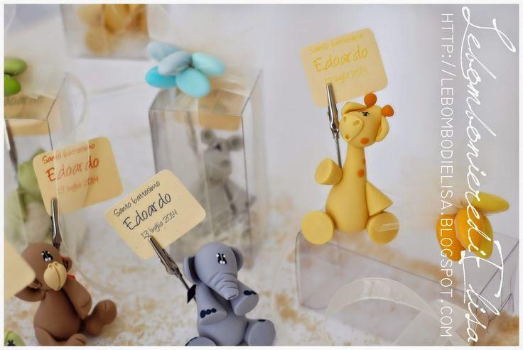 Bomboniere battesimo, bomboniere giraffa, confetti colorati