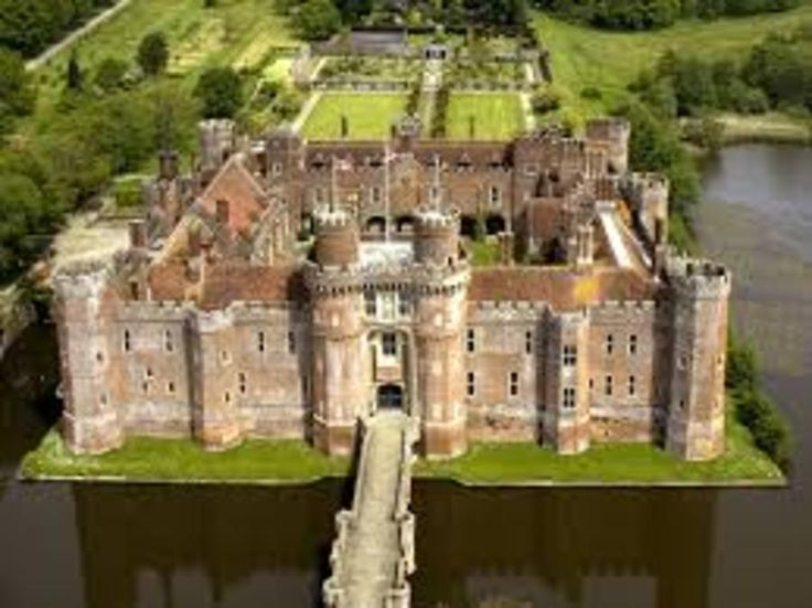 Herstmonceux Castle, a 15th Century moated Tudor Castle in the Wealden District of East Sussex