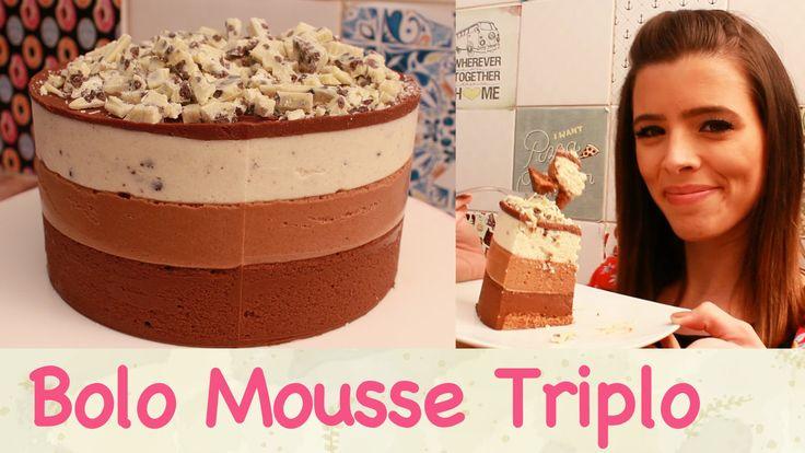 Um dos bolos mais lindos que existe! O BOLO MOUSSE TRIPLO parece complicado, mas qualquer um pode fazer! ;D Não esqueça da…