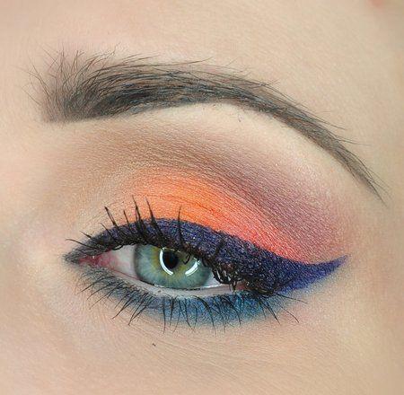 inspiration #eyes #eyemakeup #orangeshadow #wingedliner - bellashoot iPhone & iPad app, bellashoot.com (mobile-friendly)