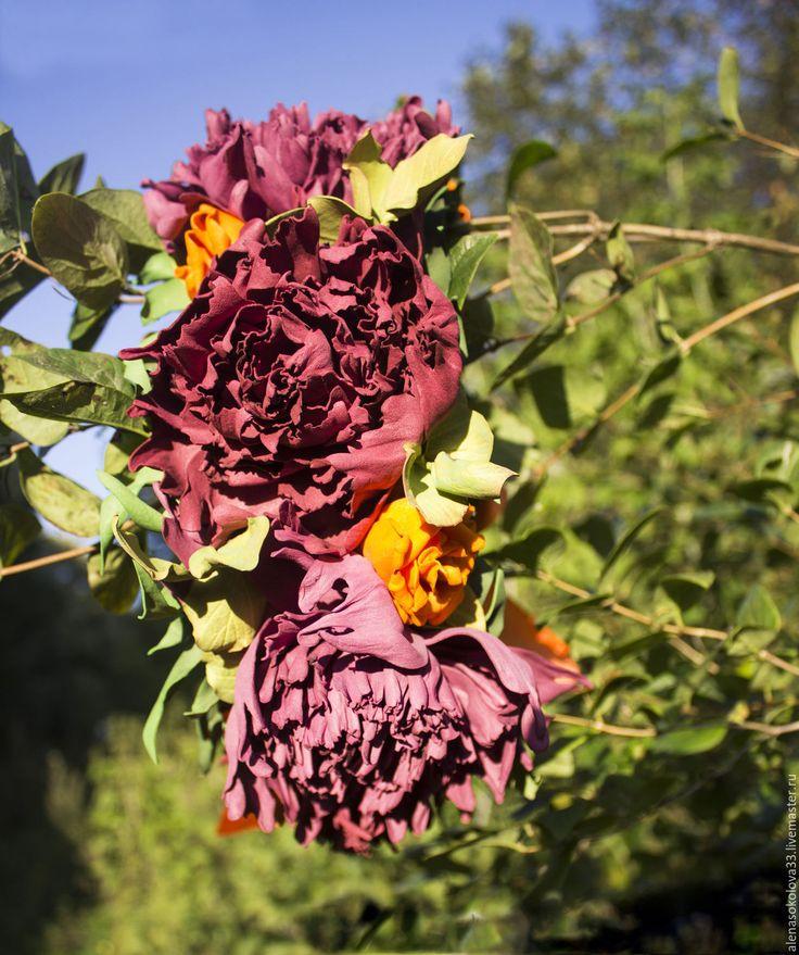 """Купить Венок """"Леди Осень"""" - разноцветный, венок, венок из цветов, венок на голову, венок с цветами"""