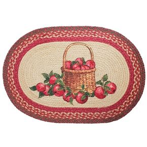 Apple Basket Braided Rug, Country Decor Primitive Rug 20