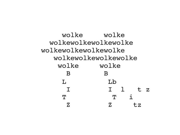 Konkrete oder visuelle Poesie. Warum? Die Sprache ist nicht da, um ...