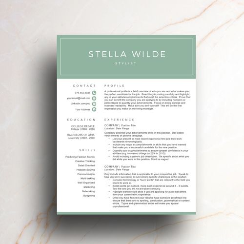 58 best Creative Resume Templates images on Pinterest Cv - how ro make a resume