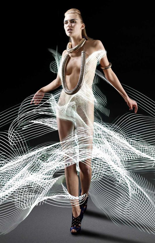 Dresses painted from light // light painting and photography by Atton Conrad