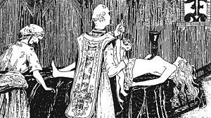 """The Abbé Étienne Guibourg (c. 1610 – January 1686) was a French Roman Catholic abbé and occultist who was involved in the affaire des poisons, during the reign of Louis XIV. He has been variously described as a """"defrocked"""" or """"renegade"""" priest and is said to have also had a good knowledge of chemistry. He is best known for performing a series of Black Mass rituals with Catherine Monvoisin for Madame de Montespan."""