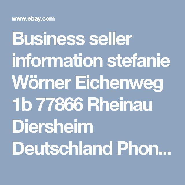 Business seller information stefanie Wörner Eichenweg 1b 77866 Rheinau Diersheim Deutschland  Phone: 0033   623 272 836 Email: relook@hotmail.de Value Added Tax Number: DE 815 155 055 I Provide invoices with VAT separately displayed.