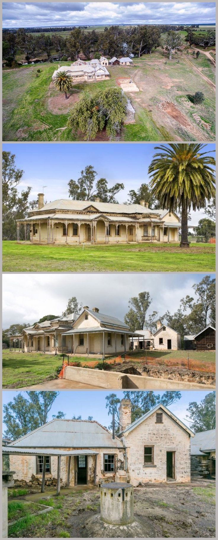 Memsie Homestead, Bridgewater (179km NW of Melbourne) is situated on the banks of the Loddon River. The oldest part of the house is thought to date from 1841, with another section added in 1860 and the front section, of solid brick with weatherboard facing, in 1880. This part was designed by William Vahland, a German-born architect responsible for some of Bendigo's finest buildings, including the town hall and Shamrock Hotel. The homestead has been empty and derelict for over 20 years.