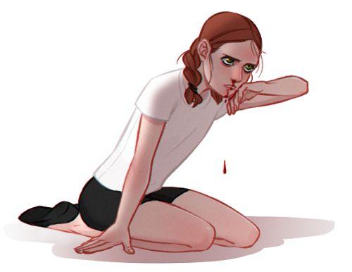 Black Widow in training fanart by rngrn