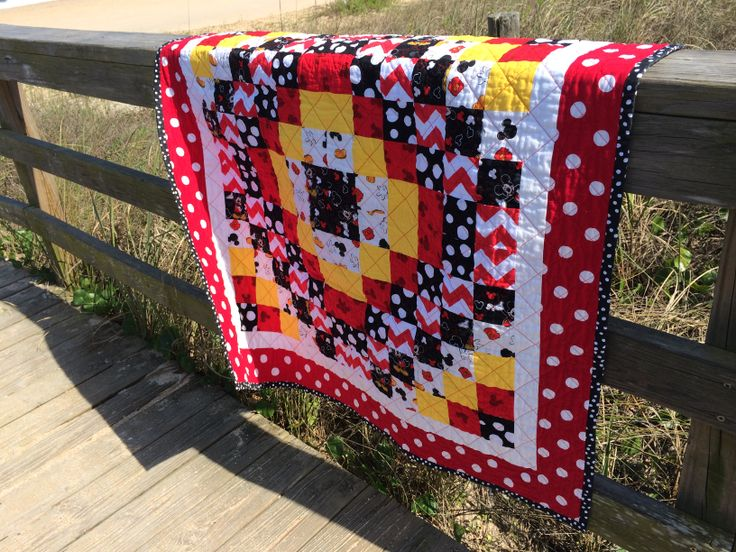 Front of Mickey Mouse quilt