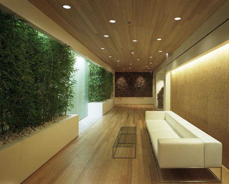 Eco Friendly AIA Chicago Office Insurance Interior Design With Wooden Ceiling And Floor Featuring Recessed