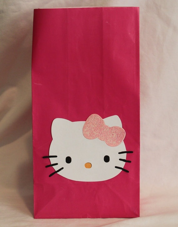 Hello kitty treat favor bags kids party ideas