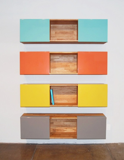 MASH Studios - 3x Shelf Door Covers - bright and contemporary storage solution.
