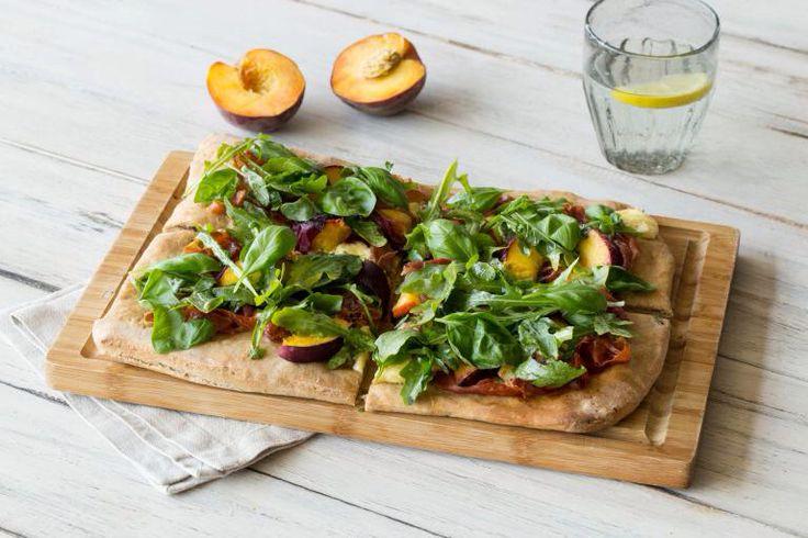 Peach and Proscuitto Flatbread