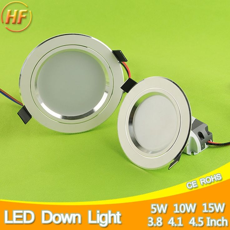 2.41$  Watch here - Silver White Ceiling LED Downlight 5w 10w 15w Led Lamp Recessed 110~220v LED Down Light Indoor Lighting Home Aluminum Spot Light   #bestbuy