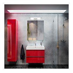 IKEA - SKEPP, LED skåp-/vägglampa, , Ger ett jämnt ljus som är bra för att lysa upp runt spegeln och tvättstället.