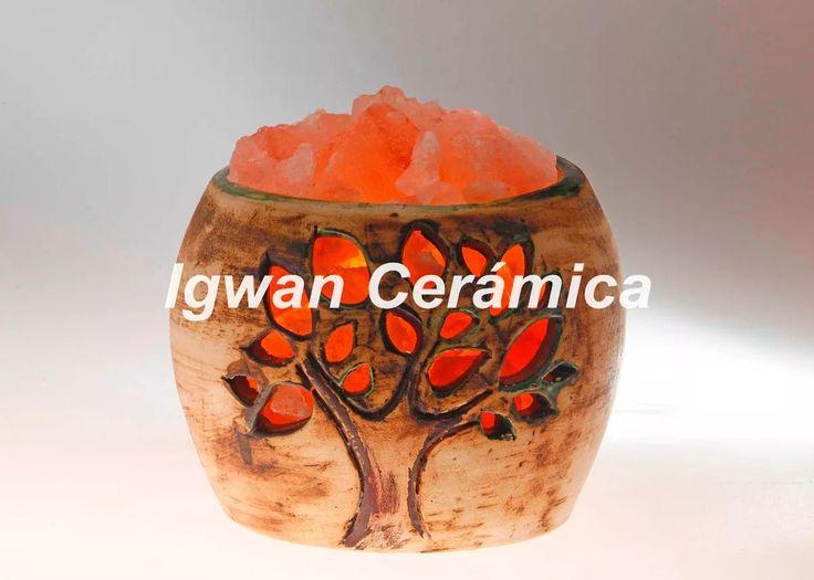 Cuencos De Ceramica En Lamparas De Sal - $ 350,00 en MercadoLibre