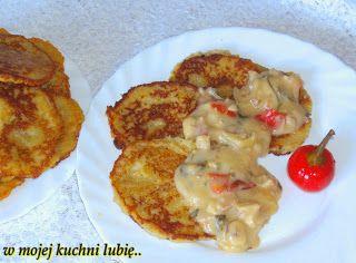 W Mojej Kuchni Lubię..: ziemniaczane placki z sosem ostrym...