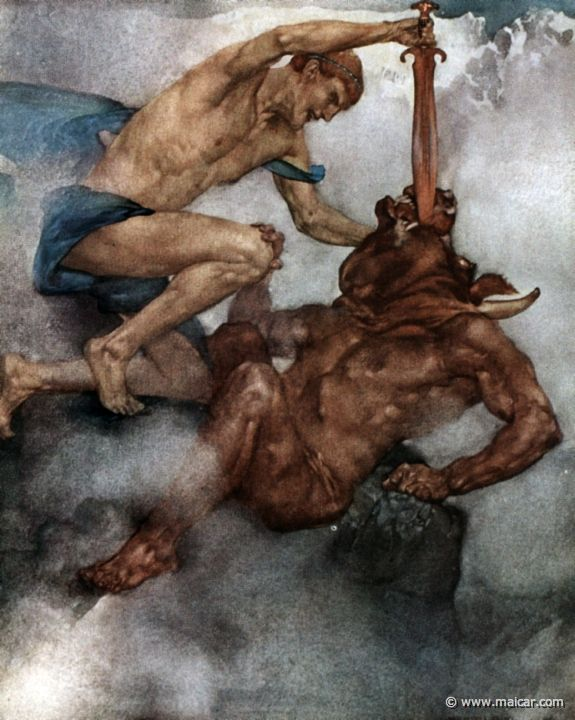 Minotaur - Greek Mythology Link                                               The Beast of the Maze..