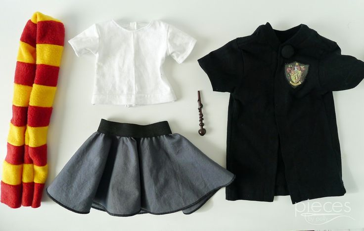DIY Harry Potter Doll Robe - Hermione American Girl Style Doll Tutorial