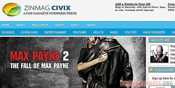 Zinmag Civix Wordpress Theme Download