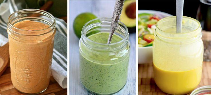 El chiste de una buena ensalada es, sin duda, el aliño. Te comparto estas tres recetas de aderezos light para quitarle lo aburrido a tus pastas y ensaladas sin añadir demasiadas calorías.