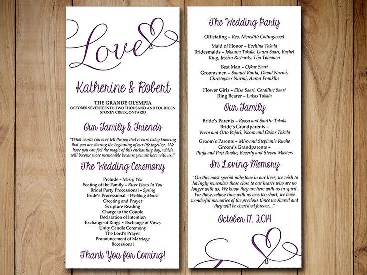 Diy Wedding Program Template Hakkında Pinterestu0027teki En Iyi 20+ Fikir   Wedding  Program Template