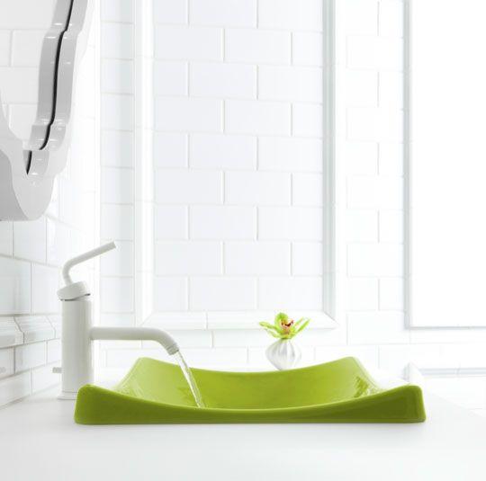 sneak preview jonathan adlers colorful new sink collection for kohler - Kohler Waschbecken Schneidebrett