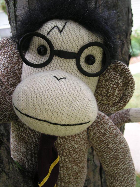 Harry Potter Sock Monkey. $36.00: Monkey Dolls, Super Socks Monkey, Hermione Socks, Things Potter, Potter Socks, Dolls Buy, Harry Potter, Socks Monki, Potter Ron