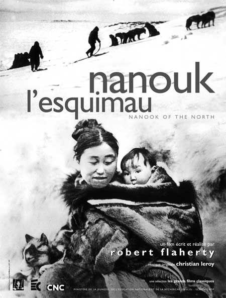 """""""Nanouk l'esquimau"""" de Robert Flaherty (1922)L'un des premiers films…"""