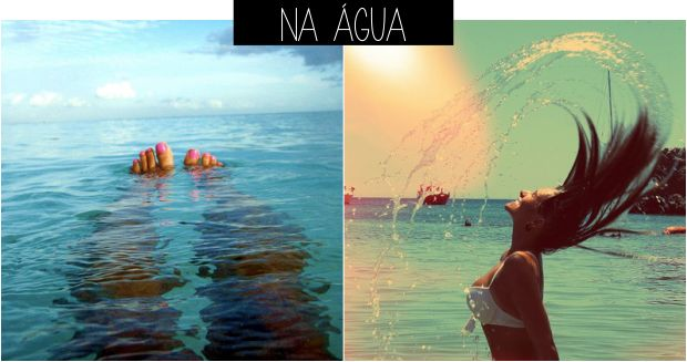 Ideias de fotos para tirar na praia água
