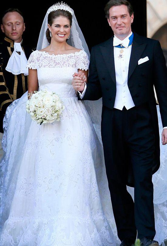2013 Madeleine of Sweden wedding gown @weddingchicks