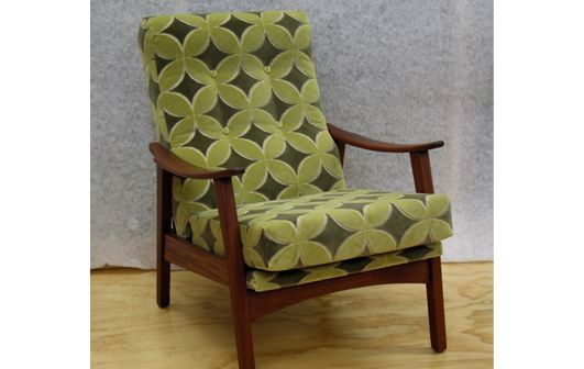 Cintique Armchair, Avani Jacquard - Living Room, Wellington