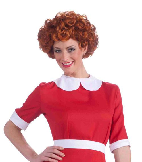 Annie Red Curly Wig - You may or may not be an orphan, but either way you can still have the fun and sassy attitude of the little redhead we all know and love. This red, curly haired wig allows you to dress up for a costume party or trick or treating. #annie #yyc #costume #wig