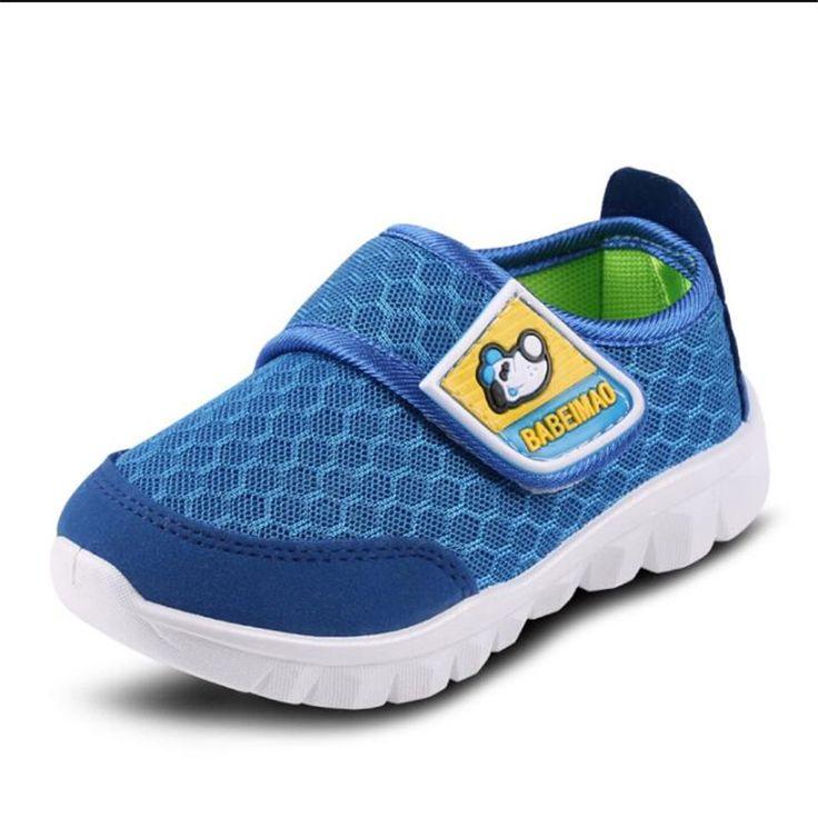 2016 gaya Musim Panas anak-anak jala sepatu perempuan dan laki-laki olahraga sepatu anak-anak bawah lembut sepatu kenyamanan bernapas sneakers S1072