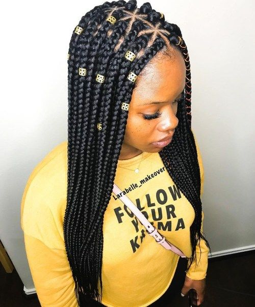 Triangle Braids Taking Your Box Braids To The Next Level In 2019