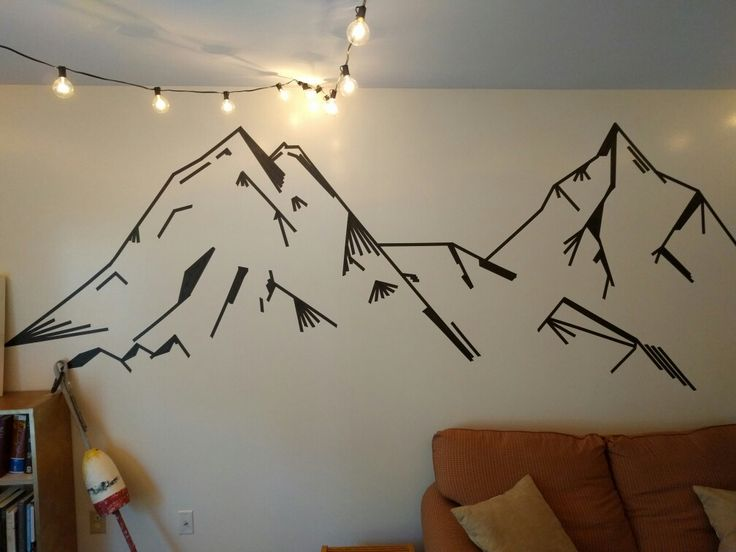 Washi tape mountains