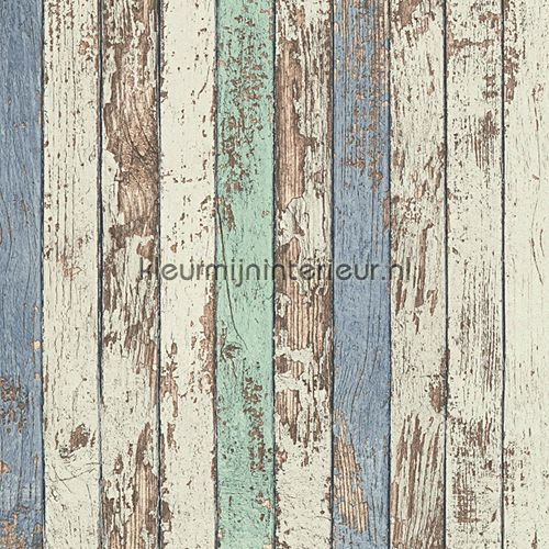 Verweerd hout paneel behang 95914-1, Dekora Natur 6 van AS Creation
