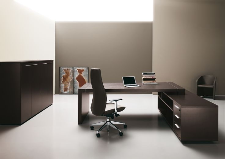 """DIPLOMAT #executive #office #officefurniture """"DIPLOMAT"""" sobriety and distinction as synonyms of elegance, luxury without excess, clean lines with essential design. A custom-made space, enhanced by warm materials and cool touches provided by metal."""