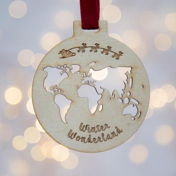 Winter wonderland bauble christmas bauble wooden Christmas