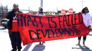 Social justice activists staged a spirited rally Saturday in South Baltimore, near the future site of Caesar's new Horseshoe Casino, (Russell Street), and just south of the M Stadium. The demonstrators wary of broken promises from deep pocket developers in ...