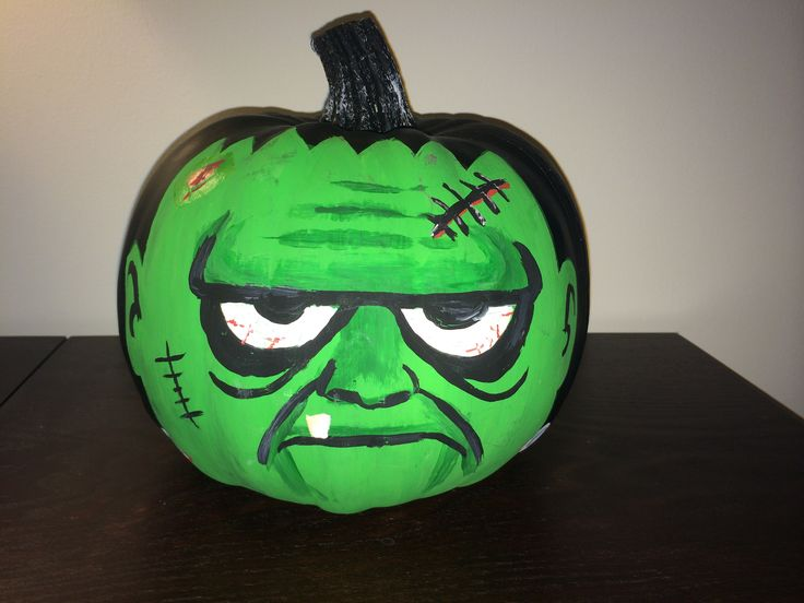 Painted Frankenstein Pumpkin