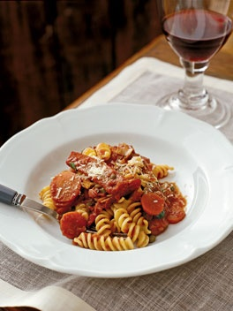 Fusilli with squid and tomato by Neil Perry