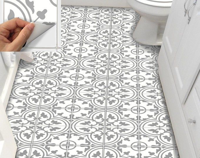 Tile Sticker Kitchen Bath Floor Wall Waterproof Removable Etsy In 2020 Flooring Stick On Tiles Peel And Stick Tile