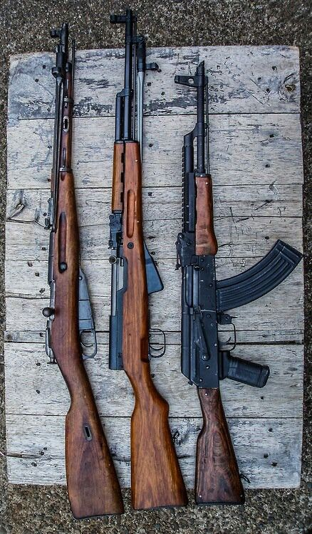 """The Russian Classics"" - Mosin Nagant, SKS, AK-47  Find our speedloader now! http://www.amazon.com/shops/raeind"